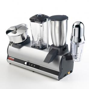 Urządzenie wielofunkcyjne : wyciskarka do owoców, blender, kruszrka do lodu, mieszadło do napojów Modulo 4 Aloqns