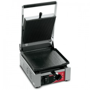 Grill, 2 płyty gładkie 250x255/ opiekacz do panini, kanapek z regulacją temeperatury do 300ᵒC  Elio LL