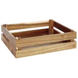 skrzynka drewniana ekspozycyjna