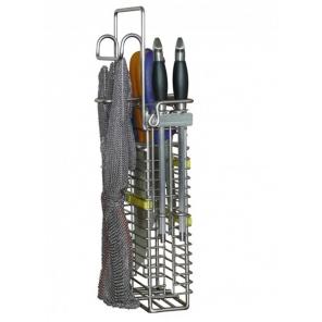 Koszyk na 4 noże, 2 stalki i rękawice metalową WH262.