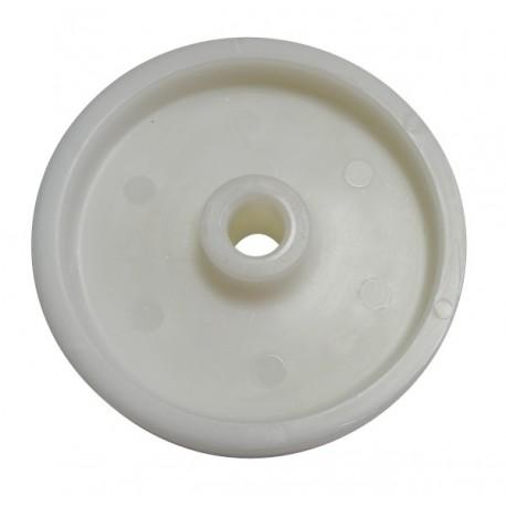 Białe koło plastikowe do wózka wędzarniczego