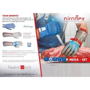 Rękawica stalowa Niroflex Easyfit bez mankietu