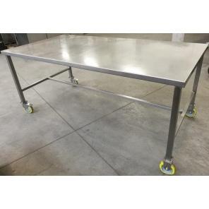 Stół ze stali nierdzewnej na kołach 2000x1000x850 mm