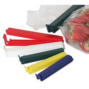Klips wielorazowy 14 cm do zamykania worków z przyprawami itp. / Zacisk z tworzywa do torebek z żywnością