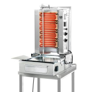 Opiekacz pionowy do 30 kg, gyros gazowy, kebab, grill, POTIS F E2