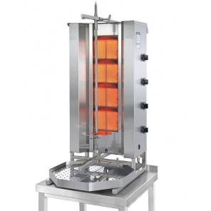 Opiekacz pionowy do 70 kg, gyros gazowy, kebab, grill, 7,0 kW, nierdzewny, POTIS MU GD4