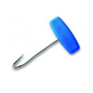 Hak masarski ze stali nierdzewnej z rączką z tworzywa, długość 120 mm, niebieski, DICK 9010812