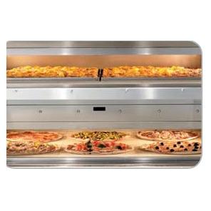Profesjonalny duży piec do pizzy - dwukomorowy