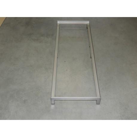 Pomocniczy stolik ze stali nierdzewnej do 2 skrzynek E2