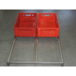 Pomocniczy stolik ze stali nierdzewnej do 4 skrzynek E2