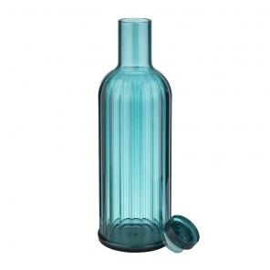 Butelka z tworzywa sztucznego STRIPES, poj. 1 l, niebieska, APS 10749