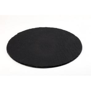 Taca łupkowa, płyta łupkowa, okrągła, śr. 33 cm, APS 00998