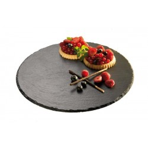 Patera obrotowa na ciasto z kamienia łupkowego 32x2.5 cm, APS 00975
