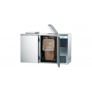 Schładzarka odpadów na pojemnik 2x120L Rilling, z własnym chłodzeniem, AAK M021 200