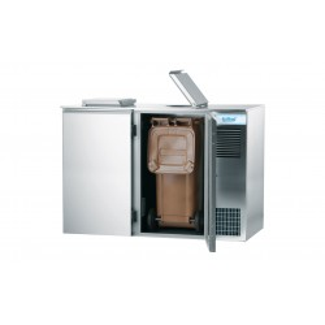 Schładzarka odpadów na pojemnik 2x240L Rilling, z własnym chłodzeniem, AAK M022 400