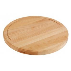 Deska okrągła z drewna bukowego XXL 50 cm, APS 00866