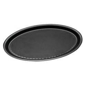 Taca RUTSCHFEST  ze wzmocnionego tworzywa sztucznego, owalna, czarna 29 x 21 cm. APS 00506