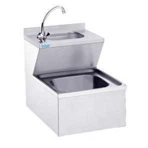 Zlew porządkowy z umywalką Rilling, podwieszany, głębokość 600mm, AAK 0605C 0000