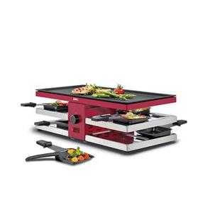 grill Raclette 8 fun z aluminiową, dwustronną płytą czerwony