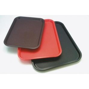 Taca prostokątna FAST FOOD, z polipropylenu, czerwona, wym. 45X35.5 cm, APS0 00540
