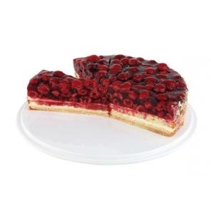 Patera na ciasto z melaminy biała 31x4 cm, APS 00468
