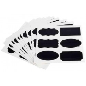 Etykiety samoprzylepne czarne 8x4.6 cm, APS 00069