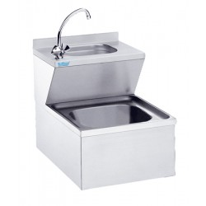 Zlew porządkowy z umywalką Rilling, podwieszany, głębokość 700mm, AAK 0705C 0000
