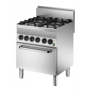 Kuchnia gazowa 650 Bartscher, szerokość 700, 4PAL PEI, 1151143