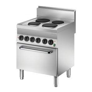 Kuchnia elektryczna 650 Bartscher, szerokość 700 4PL, PEl Nr art.115058