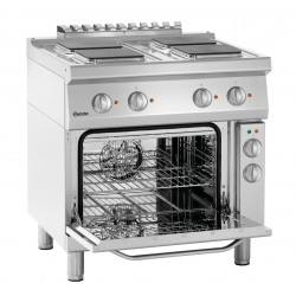 Kuchnia elektryczna 700, sz.800, 4p, piek.el. Bartscher Nr art.286326