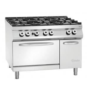 6-palnikowa kuchnia gazowa, piekarnik gazowy,2/1GN,NS Bartscher Nr art.2952291