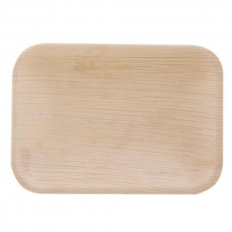 Płyta organiczna prostokątna   liść palmowy 12cm 410632