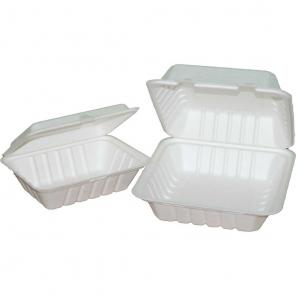 "Organic Lunchbox ""Hamburger"" prostokątny 20cm | trzciny cukrowej 41218"
