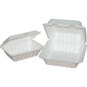 "Organic Lunchbox ""Hamburger"" prostokątny 23cm | trzciny cukrowej 41218"