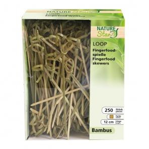 Bambusowy szpikulec z węzłem, 12cm z dozownikiem cm,389671