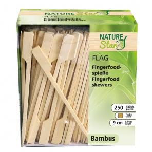 Bambusowy szpikulec Flaga,dozownik, 9 cm,389521