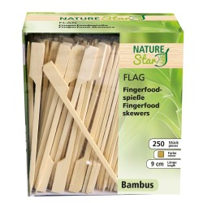 Bambusowy szpikulec Flaga,dozownik, 18 cm,389551
