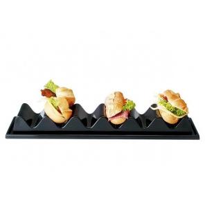 Stojak ekspozycyjny na kanapki / bagietki z 6 przegrodami z tworzywa sztucznego 60x19 cm, APS 11889