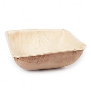 Biodegradowalny kwadratowy talerz do zupy   liść palmowy 410622