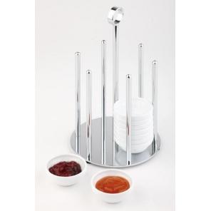 Dyspenser do 36 miseczek o średnicy 60 mm, stand z miseczkami z melaminy  14x25,5 cm. APS 11986