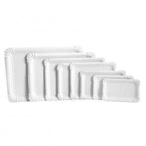 Prostokątny talerz papierowy 13x20 cm | karton 41514