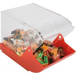 Ekspozytor do słodyczy, czerwony 23 x 14,5 cm. APS 11885