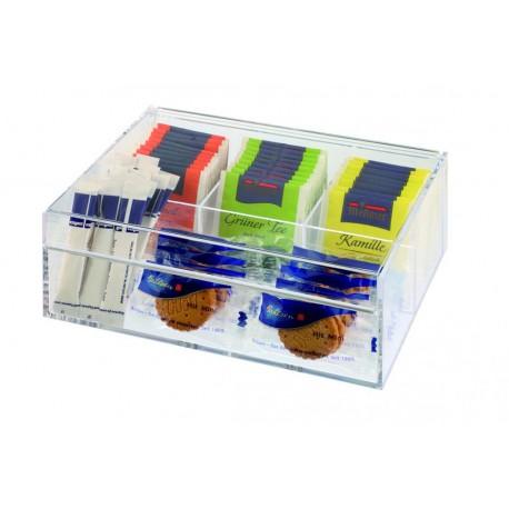 Pudełko na herbatę z tworzywa sztucznego 22 x 17 cm. APS 11563