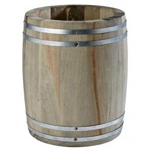 Pojemnik w kształcie mini beczki na sztućce / przyprawy COUNTRY STYLE z drewna 11.5x14 cm, APS 11931