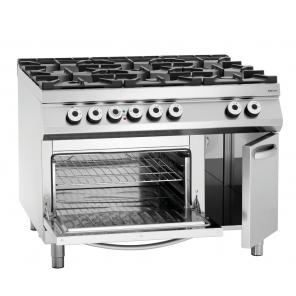 6 palnikowa kuchnia gazowa z piekarnikiem elektrycznym 2/1GN,NS, Bartscher, 2952481