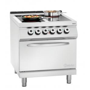 4-palnikowa kuchnia ceramiczna z piekarnikiem elektrycznym 2/1GN Bartscher, 296431