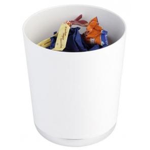 Pojemnik okrągły na odpadki / sztućce BASE CHROME z tworzywa sztucznego biały 1.3 l, APS 00019