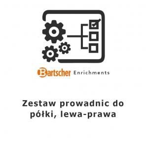 Zestaw prowadnic do półki, lewa-prawa Bartscher, 780002