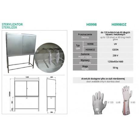 Sterylizator do rękawic metalowych UV  H0998