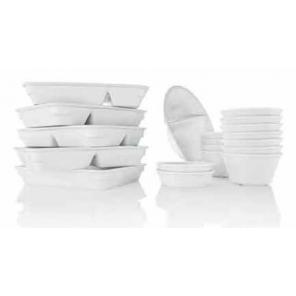 Porcelanowa taca prostokątna obiadowa wysoka, 2 szt., 41002.02033
